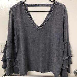 Flare Sleeve Blouse- L